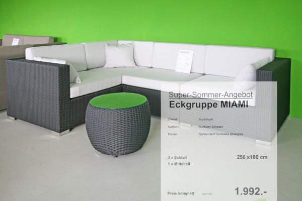 Eckgruppe Miami Angebot Silvergrey