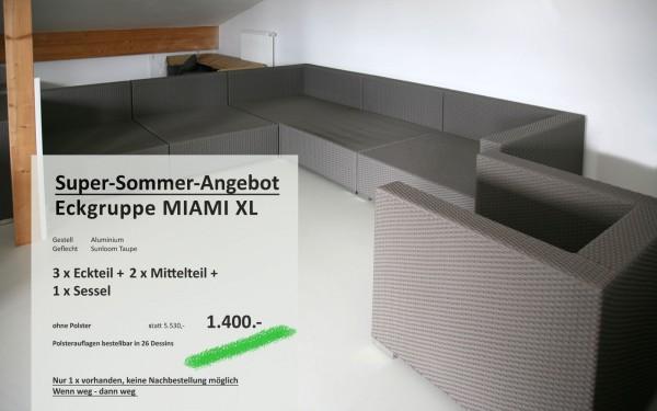 Eckgruppe Miami XL ohne Polster