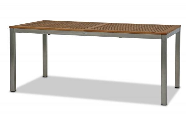 Auszugstisch TEXAS 200 (260) x 100 cm mit 6 Stapelsesseln