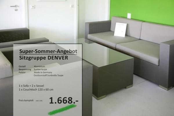 DENVER Sitzgruppe Taupe