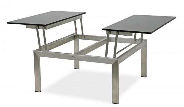 Edelstahl Couch- & Beistelltische mit HPL