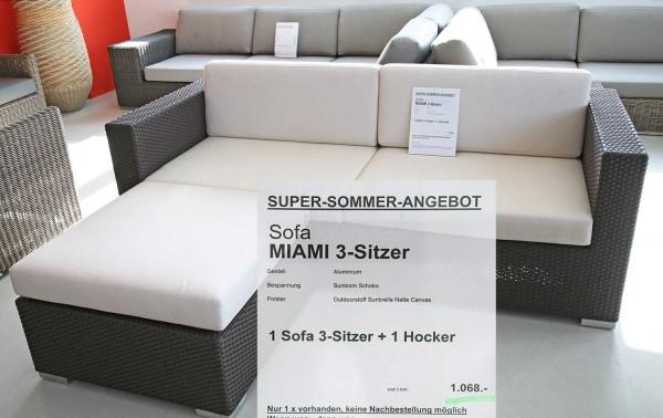 Sofa MIAMI 3-Sitzer + Hocker Angebot